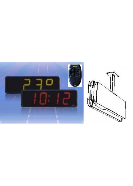 Numerische LED Anzeige Zeit + Datum + Temperatur im Gehäuse