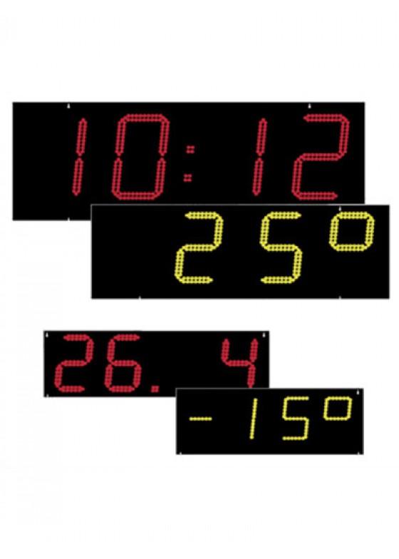 LED-Uhr, Einbaukit für Zeit-, Datum- und Temperaturanzeige