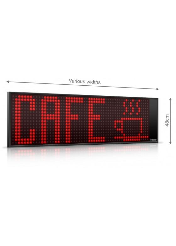 Lauftextdisplay Serie M, Bildhöhe 480mm