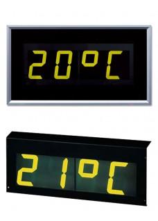 Numerische 7-Segment LCD Zeit- und Temperaturanzeige