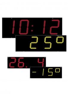 Numerische LED Anzeige Zeit + Datum + Temperatur Einbaukit