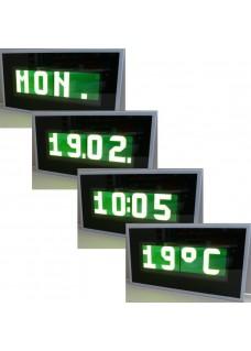 Alphanumerische 38-Segmnet LCD Zeit- und Temperaturanzeige